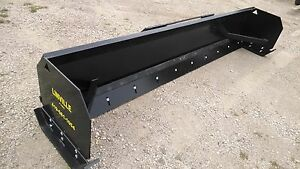 Linville 8 Low Profile Snow Pusher Skid Steer Bobcat Plow Steel