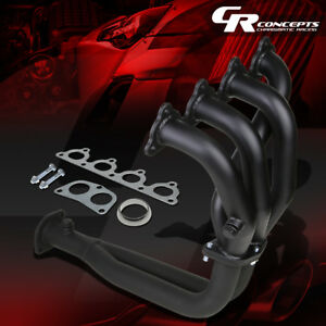 For Civic D15 D16 Sohc Stainless Black Coated Exhaust Manifold 4 2 1 Race Header