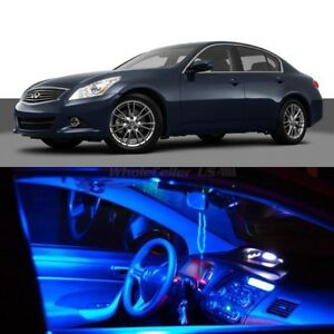 9x Blue Led Lights Interior Package For Infiniti 07 2008 G35 09 2013 G37 Sedan