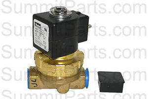 1 2 Inch Parker Brass Water Valve 220v For Unimac Washers F381703 F8521501