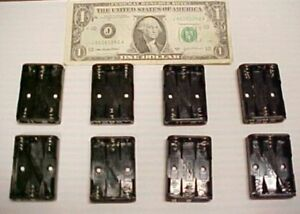 Lot 8 Battery Holder Compartment 3 Cell Size Aaa In Series 4 5 Volts Solder Lug