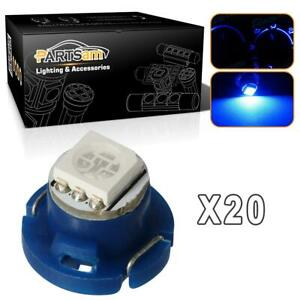20pcs Blue T5 T4 7 Neo Wedge Led Bulb Dash A C Climate Control Heater Light