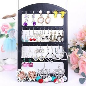 24pairs Earrings Jewelry Show Black Plastic Organisers Display Stand Holder 2014