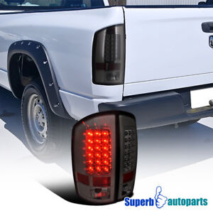For 2002 2006 Dodge Ram 1500 2500 3500 Led Tail Lights Brake Lamp Smoke