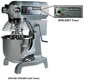 Uniworld 20 Quart Dough Mixer W Guard Timer 23 x20 x30 Etl Approved Upm 20et