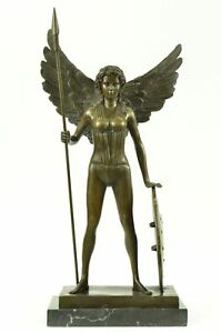 Winged Victory Athena Nike Paris Louvre Bronze Marble Statue Sculpture Figure