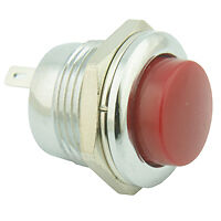 Panel Mounting Push Button Switch Red