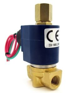 1 4 Electric Solenoid Valve 3 way 110 120vac Inlet outlet exhaust Air Etc B30v