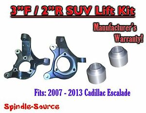2007 2013 Cadillac Escalade 2wd 3 2 Spindle Rear Spacer Lift Kit