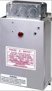 Phase A Matic Pam 300hd Static Phase Converter 1 3 Hp New