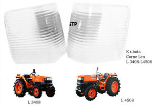 Use For Kubota Tractor L 2808 3408 4508 Side Lens Corner Len 2 Pcs