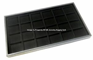 5 Black 24 Space Trays Pins Beads Jewelry Display Storage Black Trays