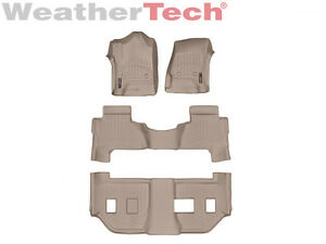 Weathertech Floor Mats Floorliner For Cadillac Escalade Esv 2015 2019 Tan