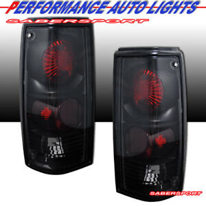 Set Of Pair Black Smoke Taillights For 1982 1993 Chevy S10 Pickup Gmc Sonoma