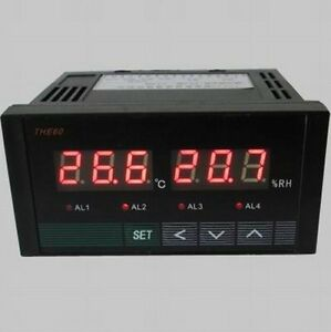 Digital Temperature humidity Controller Four Road Relay Output Din And Uk tone