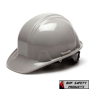 Pyramex Gray Cap Style Safety Hard Hat 4 point Ratchet Hp14112 Construction Ansi