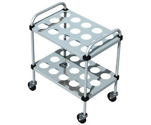 Piper Products Stainless Steel Silverware Cart W 2 Shelves 30 lx20 wx36 h 719