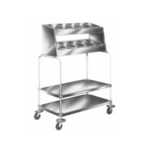 Piper Products Stainless Steel Tray silverware Cart 36 l X 21 w X 55 h 715 2 p10