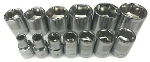 Craftsman 13pc 3 8 Sae 6pt Point Laser Etched Sockets Set Tools Inch Drive