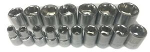 Craftsman 17pc 3 8 Laser Etched Metric 6pt Point Sockets Set Tools Mm Drive