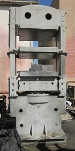 Used 600 Ton Hydraulic Press For Compression Molding 36 X 36 Platen Size
