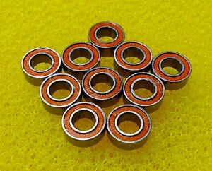Smr95 2rs 5x9x3 Mm 440c Ceramic Stainless Steel Bearing 10 Pcs Abec 7 Orange