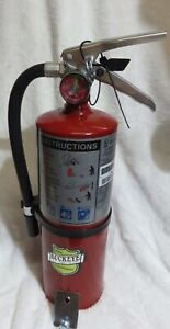 One new 2018 buckeye 5 lb Abc Fire Extinguisher With Vehicle Bracket