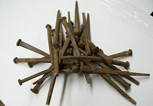 Approx 120 6 Lbs Wrought Iron Antique 1800 S Square 4 5 Long Nails
