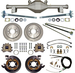Currie 79 93 Mustang 5 lug Rear End Disc Brakes lines e brake Cables axles etc