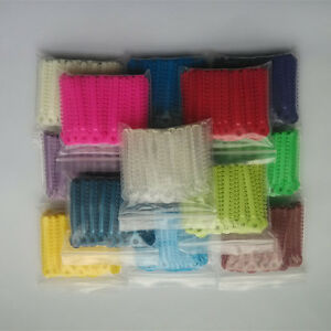 40 Packs Dental Orthodontic Ligature Ties Elastic Rubber Bands Mixed Color Tooth