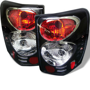 Fit Jeep 99 04 Grand Cherokee Black Euro Style Rear Tail Lights Brake Lamp Set