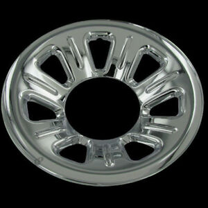 Set Of 4 For Ford 15 Chrome Wheel Hub Caps Skins Cover 7 Spoke 5 Lug Steel