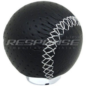 Razo Ra128 Shift Knob Gear Knob Black Leather 240g Weighted Round Ball Type Jdm