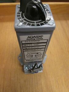 Agastat Timing Relay 2122d4yd 125vdc Coil 375 3 Range With Base Used