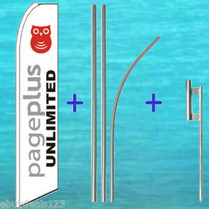 Page Plus Flutter Feather Flag 15 Premium Pole Mount Swooper Banner Sign
