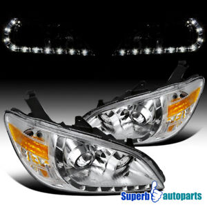For 2004 2005 Honda Civic R8 Style Led Drl Projector Headlights W Turn Signal