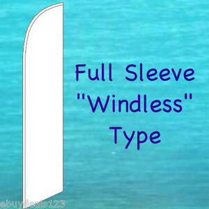 Solid White Windless Feather Flag Swooper Flutter Bow Banner Advertising Sign