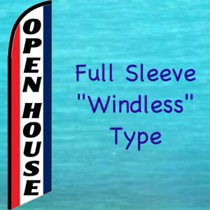Open House Rwb Windless Feather Flag Swooper Flutter Bow Banner Advertising Sign
