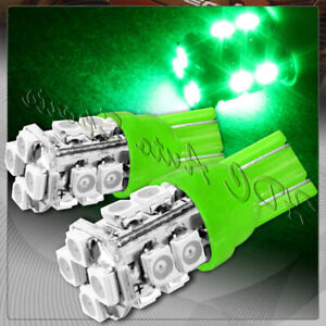 2x 12 Smd T10 194 12v Interior Instrument Panel Gauge Replacement Bulbs Green