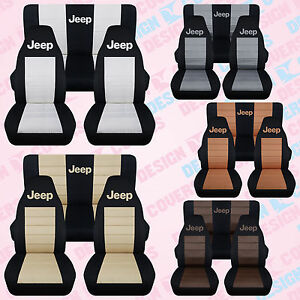 Cc Jeep Wrangler Tj Yj Lj Front Back Car Seat Covers Choose From 23 Colors