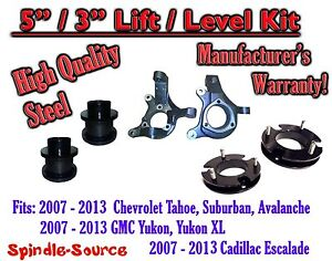 07 13 Chevy Tahoe Gmc Yukon 1500 Suv 5 3 Full Lift Kit 2wd Spindles