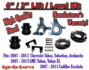 07 13 Chevy Tahoe Gmc Yukon 1500 Suv 6 3 Full Lift Kit 2wd Spindles