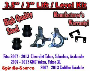 07 13 Chevy Tahoe Gmc Yukon 1500 Suv 3 5 3 Full Lift Kit 2wd Spindles