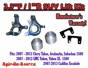 07 13 Chevy Tahoe Gmc Yukon 1500 Suv 3 5 1 Full Lift Kit 2wd Spindles