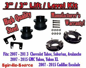 2007 2015 Chevrolet Tahoe Gmc Yukon 1500 Suv 3 Full Lift Kit Chevy 07 15 Xl