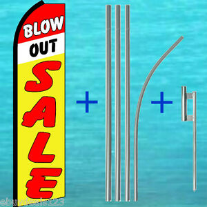 Blow Out Sale Flutter Feather Flag 15 Pole Mount Swooper Bow Banner Sign