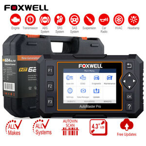Foxwell Nt624 Pro Automotive Obd2 Full System Diagnostic Scan Tools Code Scanner
