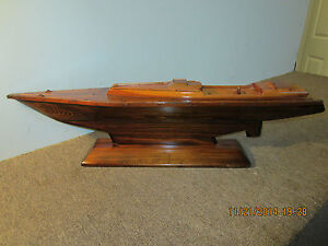 Maritime Hand Made Wooden Yacht Hull Model