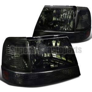 1998 2000 Ford Ranger Diamond Headlights Smoke signal Bumper Corner Lamps