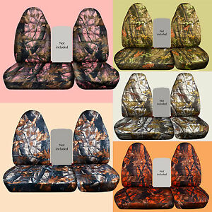 40 60 Highback Camo Car Seat Covers Fits 96 2004 Ford F150 No Console Cover